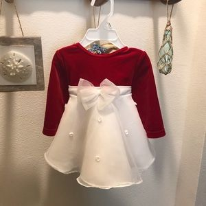 Goodlad Red & White Holiday Dress 3-6M